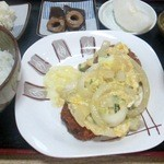 さぬきうどん桐山 - カツとじ定食