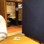 薩摩魚鮮水産 - 店内、テーブル席