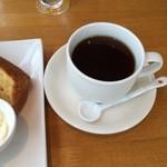 醗酵カフェあおげん酵房 - セットのコーヒー。紅茶も選択できます。