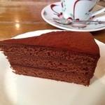 ティールーム藤屋 - チョコレートケーキ