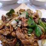 麒麟閣 - 豚肉とトウチのピリ辛炒め