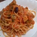 21830431 - 鶏と茄子のトマトパスタ