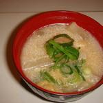 昭和ロマン おとめの台所 - 懐かしい味の味噌汁で一息!