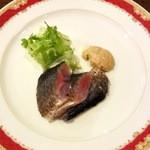 パピエドレ - 新秋刀魚の肝ソース1,200円(半分にシェア後)