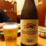 寿司・居酒家 海福 - びんビール(中瓶)500円