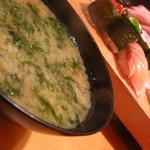 寿司・居酒家 海福 - 海苔の味噌汁200円
