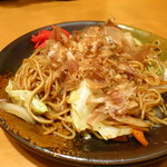 寿司・居酒家 海福 - 昔ながらのソース焼きそば480円