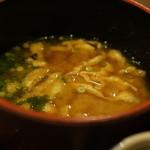 樹庵 - 具沢山の味噌汁(揚げ、大根、人参)