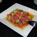リュクスバーラウンジ - 空豆とホタルイカのマリネ