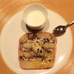ラ・ブランシュ - スペシャリテ (鰯とじゃが芋のテリーヌトリュフ風味 アンチョビのクリーム添え と 鰯のスープ)