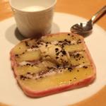 ラ・ブランシュ - スペシャルテ (鰯とじゃが芋のテリーヌトリュフ風味 アンチョビのクリーム添え と 鰯のスープ)
