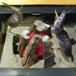 いろり割烹 稲穂 - やまめの囲炉裏焼き