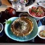 21844768 - 三枚目 助五郎 鉄火丼+ざる蕎麦 850円
