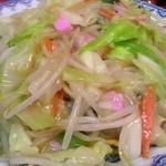 香蘭 - 皿うどん(太麺・大盛):950円