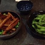 ちらん - ごぼうの揚げスティック&枝豆