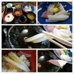 兵四楼 - ランチは舟屋で知られる伊根の旅館でお造り定食(´ー`)