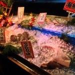 魚河岸 番屋 - 店内にきらきらお魚様♪