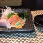 オーベルジュ - ハマチ、サーモン、太刀魚