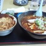 味の三平 - 三平セット 正油ラーメン・カツ丼 880円