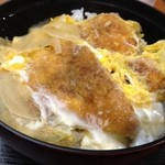 平の家 - 料理写真:とりかつ丼。ざつい。もう食べない