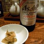 上海厨房 - ノンアルビール+ザーサイ