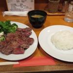 ファイヤープレート - ビフテキ定食(980円)