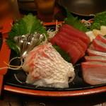 Kimurayahonten - 宮崎直送鮮魚5点盛り合わせ