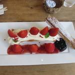 シルクレーム - 北欧ビルベリーと苺のミルフェ