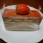 浅野屋菓子舗 - 料理写真:苺のミルフィーユ300円