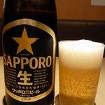 一龍亭 - 何時ものようにビールからっと。ここはサッポロビールでした。