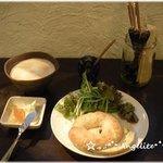 ワカバカフェ - ワカバカフェ 『白神こだま酵母の自家製ベーグル(クリームチーズ・ゆずジャム付き」)』