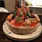 まんまる - お鮨のデコレーションケーキ