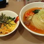 21882584 - Aセット(冷麺、ビビンバ)
