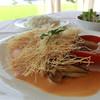 オンドール  - 料理写真:シーサイドランチ、鯛のカダイフ、アメリカンソースと豚スペアリブの柔らか煮込み