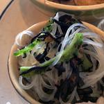 Cafe + zakka coque - ゴーヤとヒジキの春雨サラダ