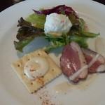 ワイン食堂コウキチ - ランチセットのサラダ+ひと口オードブル