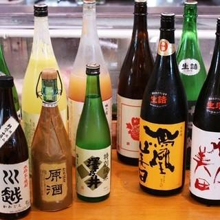 日本酒300種、焼酎80種を取り揃えております♪