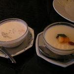 希須林 - デザートのタピオカココナッッと杏仁豆腐