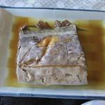 味政 - 太刀魚の煮付け。大きめのタチウオで、食べ応えあり。美味しかった~♪