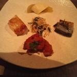花御堂 - 料理写真:前菜です。美味しいものを少しずつ。