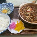 丸福 うどん店 - 味噌煮込定食¥780