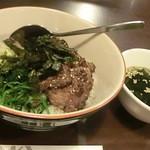 焼肉 まる喜 - ピビンバ丼 大盛600円也