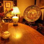 茶亭 羽當 - 大皿の調度品
