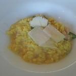 21916842 - アスパラとホタテのパルメザンチーズ風味リゾット