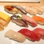 まぐろ一代 - 濱松1080円 時間が無いから駅ナカの寿司屋に飛び込んだが意外とまともな寿司だった