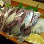 大庄屋 - 料理写真:豊後あじ定食のお刺身