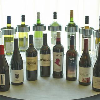 16種類のワインの中から選べる<世界のワインブッフェ>