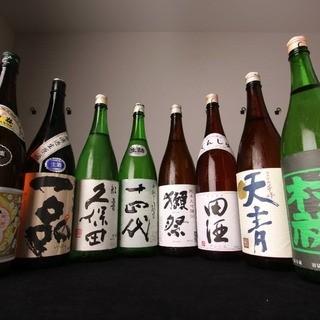 プレミア日本酒・焼酎が豊富!