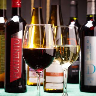 ビオワイン、日本ワインなども充実!こだわりカクテルも多数!