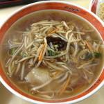 味中味 - ランチのサンマー麺と半チャーハンのサンマー麺(800円)